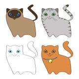Fije con los gatitos Libre Illustration