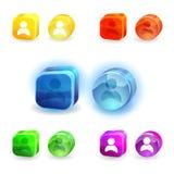 Fije con los iconos Imagen de archivo libre de regalías