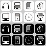 Fije con los iconos del ordenador Imagenes de archivo