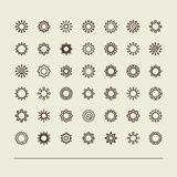 Fije con los iconos - el sol Imagen de archivo