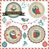 Fije con los logotipos de la Navidad Imágenes de archivo libres de regalías