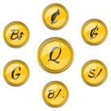 Fije con símbolos de moneda suramericanos planos ilustración del vector