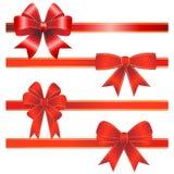 Fije de arcos rojos de la Navidad Imagen de archivo