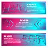 Fije de banderas abstractas horizontales de la pendiente stock de ilustración
