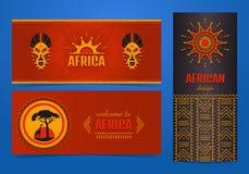 Fije de banderas africanas elegantes Fondo tribal étnico del arte ilustración del vector