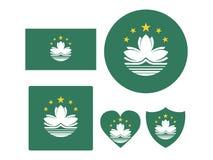 Fije de banderas de Macao libre illustration
