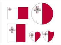 Fije de banderas de Malta stock de ilustración