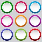Fije de botones blancos redondos Ilustraci?n del vector stock de ilustración