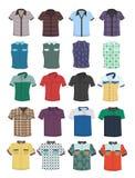 Fije de camisas de manga corta y de camisas sin las mangas ilustración del vector