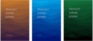 Fije de carteles ondulados abstractos libre illustration