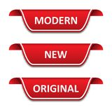 Fije de cintas de las etiquetas Moderno, nuevo, original ilustración del vector