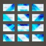 Fije de color azul abstracto geométrico del diseño de la plantilla de la identidad corporativa del tema de la tarjeta de visita ilustración del vector