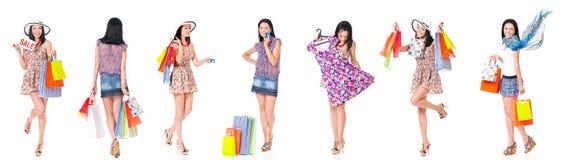 Fije de compras de la mujer imagen de archivo libre de regalías