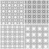 Fije de cuatro rejillas abstractas inconsútiles stock de ilustración