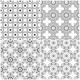 Fije de cuatro rejillas florales abstractas inconsútiles stock de ilustración