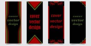 Fije de cubiertas con formas abstractas en fondo negro ilustración del vector