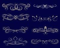 Fije de decorativo prosperan los divisores, fronteras ilustración del vector