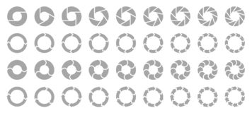 Fije de diverso gris de las flechas de los gráficos circulares stock de ilustración