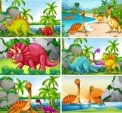 Fije de escenas del dinosaurio ilustración del vector