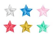 Fije de estrellas brillantes en el fondo blanco stock de ilustración