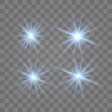 Fije de estrellas hermosas azules stock de ilustración