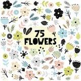 Fije de flores y de plantas en estilo escandinavo libre illustration