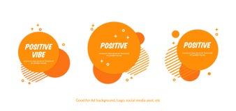 Fije de fondo anaranjado alegre plano del círculo Fondo del estilo de Memphis del vector para la página web, la bandera, las cubi libre illustration