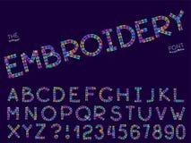 Fije de fuente y de alfabeto del extracto del vector stock de ilustración