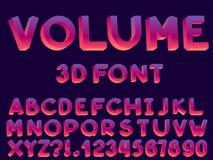 Fije de fuente y de alfabeto del extracto del vector ilustración del vector