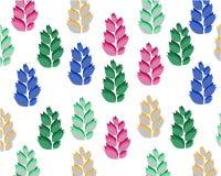 Fije de hojas simétricas coloreadas en el fondo blanco libre illustration
