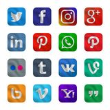 Fije de icono social de los medios con estilo que agita fotografía de archivo
