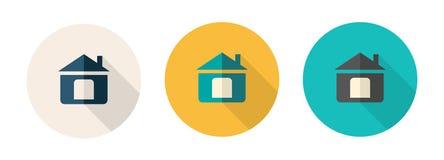 Fije de iconos planos simples del diseño indicó el homepage stock de ilustración