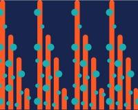 Fije de líneas anaranjadas brillantes en bolas verdes en fondo oscuro libre illustration