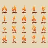 Fije de la llama con madera libre illustration