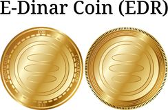 Fije de la moneda de oro física del E-dinar de la moneda (EDR) libre illustration