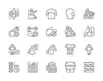 Fije de la obesidad y de la l?nea gorda iconos Cara gorda, Junk Food, dieta y m?s libre illustration