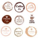 Fije de la plantilla linda y útil para la cafetería, el menú del café, el restaurante y la barra aislados en el fondo blanco libre illustration