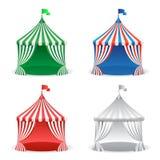 Fije de la tienda del carnaval del circo Concepto multicolor de los días de fiesta del carnaval stock de ilustración