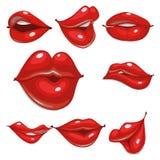Fije de labios atractivos en diversas posiciones libre illustration