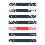 Fije de las banderas modernas del pixel para los jefes Banderas listas para su texto o diseño ilustración del vector