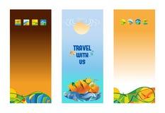 Fije de las banderas verticales del viaje, fondo del vector libre illustration