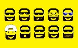 Fije de las emociones y de las profesiones stock de ilustración