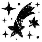 Fije de las estrellas del grunge aisladas en el fondo blanco ilustración del vector