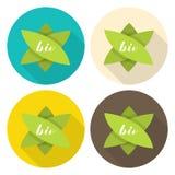 Fije de las etiquetas para los bio productos Ilustración del vector libre illustration