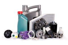 Fije de las nuevas diversas piezas del coche necesarias para el servicio del vehículo fotografía de archivo libre de regalías