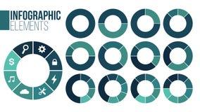 Fije de las opciones infographic de las plantillas with1-8 de la carta del círculo para las presentaciones, publicidad, disposici libre illustration