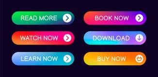 Fije de los botones abstractos modernos de la web libre illustration