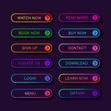 Fije de los botones abstractos modernos de la web ilustración del vector
