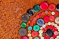 Fije de los botones de la vendimia Fotografía de archivo
