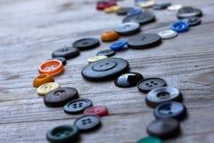 Fije de los botones de la vendimia Imagenes de archivo
